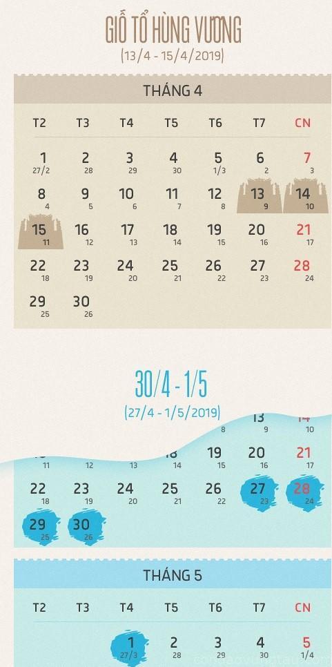 lich nghi gio to hung vuong va 30 thang 4 va 1 tháng 5