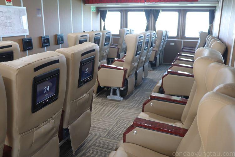 Ghế VIP thương gia trên tàu Côn Đảo Express