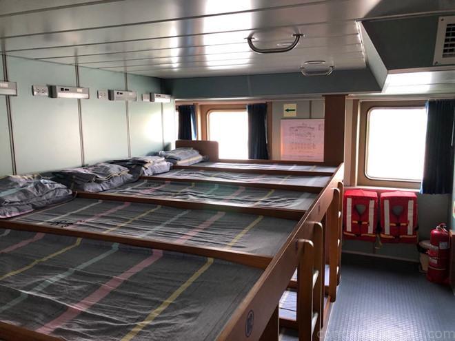 Tàu có tổng cộng 230 giường nằm