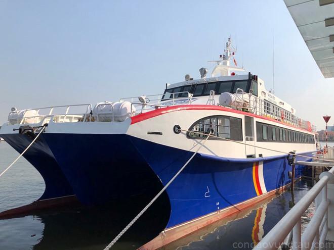 Tàu cao tốc TP.HCM – Côn Đảo chuẩn bị chạy thử nghiệm để đưa vào hoạt động chính thức